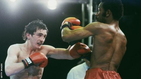 Barry McGuigan beat Eusebio Pedroza on points to win the WBA featherweight title