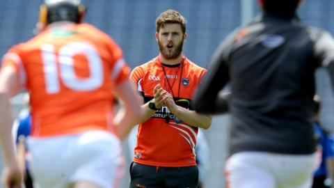 Well-known Cork hurler and footballer Eoin Cadogan was on the Armagh coaching staff for the final of the Nicky Rackard Cup