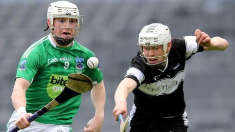 Fermanagh's Daniel Teague in Croke Park action against Gerard O'Kelly-Lynch of Sligo