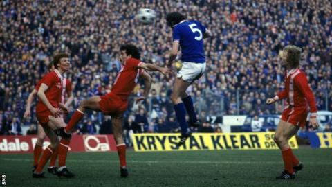 Colin Jackson scored the winning goal for Rangers in the 1978-79 League Cup final