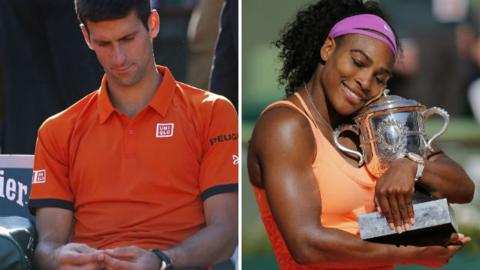 Novak Djokovic and Serena Williams