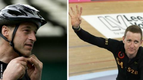 Graeme Obree and Sir Bradley Wiggins