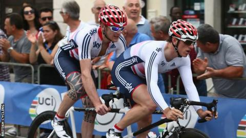GB tandem cyclists Steve Bate and Adam Duggleby