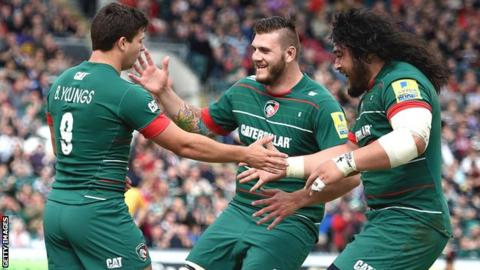 Leicester Tigers in action