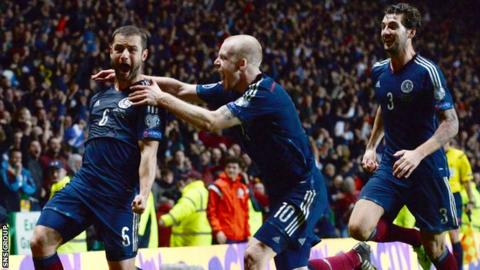 Shaun Maloney (left) scored the only goal when Scotland last played Republic of Ireland