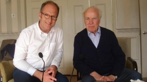 Geoff Webster with Hugh McIlvanney