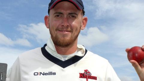 Northern Knights spinner James Cameron-Dow