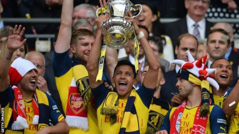 Alexis Sanchez lifted the FA Cup with Arsenal last season