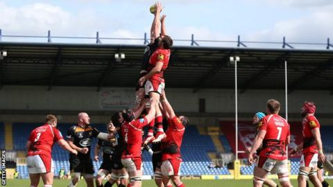 London Welsh v Wasps at the Kassam Stadium