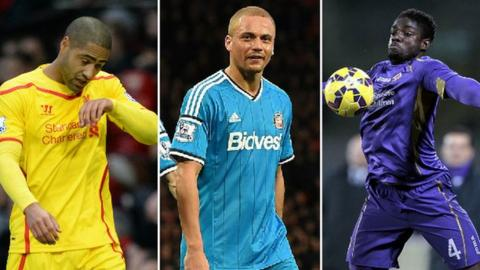 Glen Johnson, Wes Brown and Micah Richards