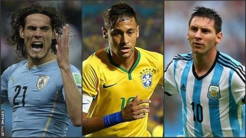 Uruguay, Brazil, Argentina