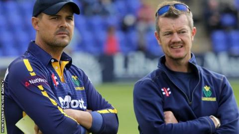 Glamorgan captain Jacques Rudolph (L) and head coach Toby Radford (R)