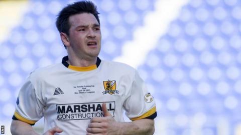 Mark Docherty in Alloa colours