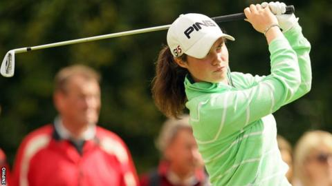 Leona Maguire was beaten in the last 16 at Portstewart on Friday morning