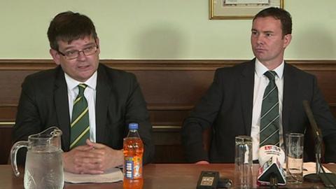 James Brent (left) and Derek Adams
