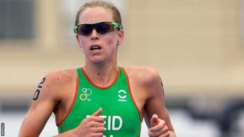 Aileen Reid was well down the field at the World Triathlon Series event in Edmonton