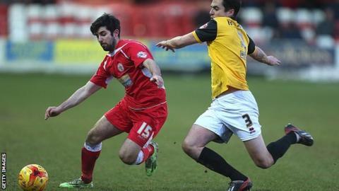 Accrington Stanley midfielder Piero Mingoia
