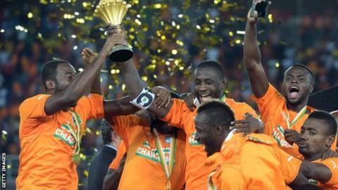 Ivory Coast celebrate winning the 2015 Nations Cup