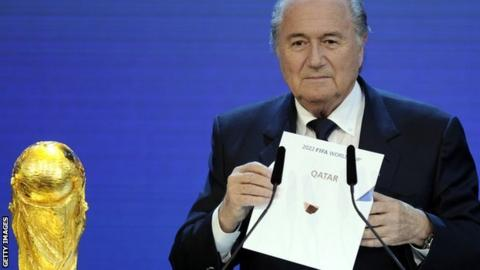 Fifa president Sepp Blatter announced Qatar's victory in 2022 bidding race back in 2010