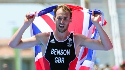 Gordon Benson wins triathlon gold at the European Games in Baku