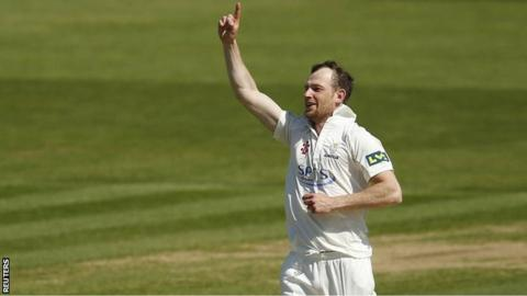 Glamorgan bowler Graham Wagg took two late wickets at Surrey