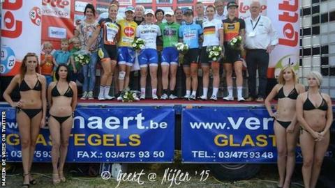 Podium at Flanders Diamond Tour