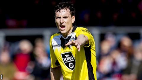 St Mirren forward Alan Gow