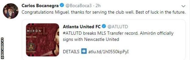 Carlos Bocanegra twitter account