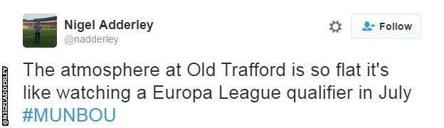 Old Trafford tweet