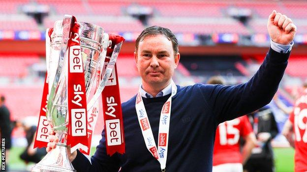 During his managerial career, Derek Adams has won promotion from League Two with Plymouth Argyle as well as Morecambe