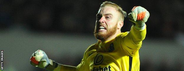 Blackburn Rovers goalkeeper Jason Steele