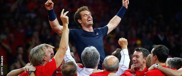 Murray collected a remarkable 11 points in Britain's success
