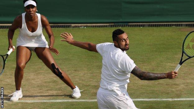 Venus Williams and Nick Kyrgios