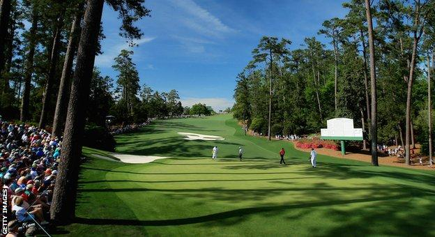 The 10th hole at Augusta
