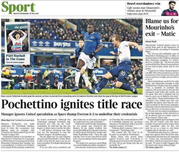 Monday's Times back page