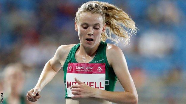 Emma Mitchell in action at last year's World University Games in Taipei