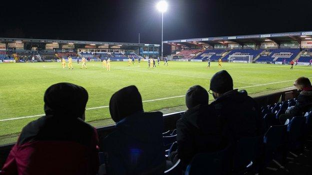 Football clubs in Tier One council areas - like Ross County and Inverness Caledonian Thistle - are allowed up to 300 fans