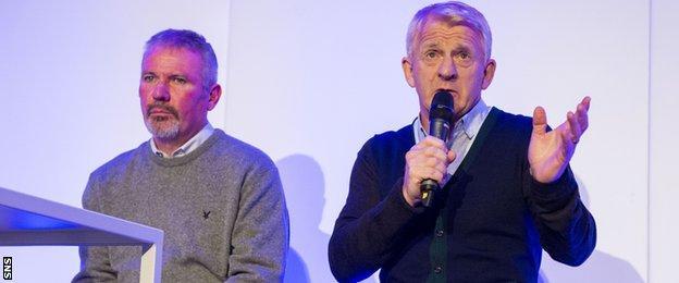 Brian McClair (left) and Gordon Strachan