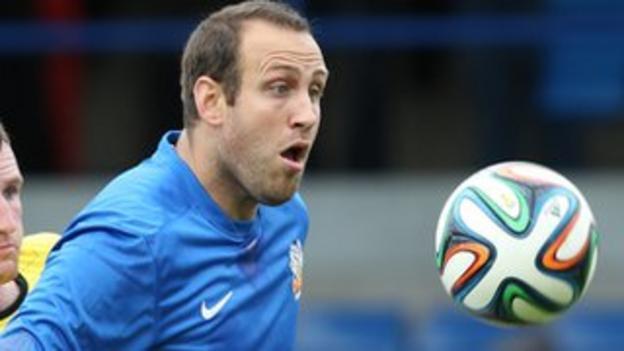 Glenavon striker Guy Bates