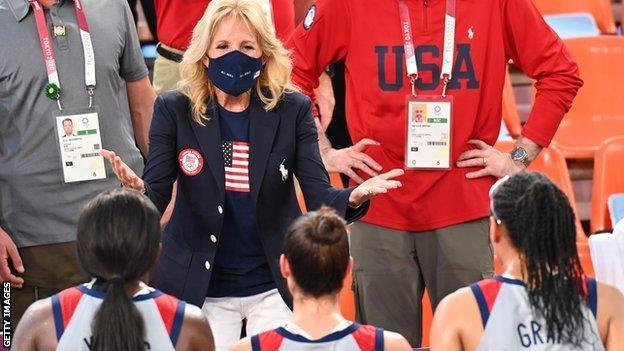 Jill Biden congratulates Team USA