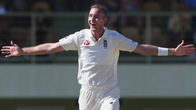 England in West Indies: Stuart Broad takes hat-trick in warm-up game thumbnail