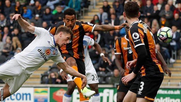 Hull lose against Sunderland