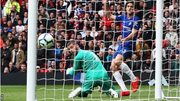 David de Gea lets in a goal