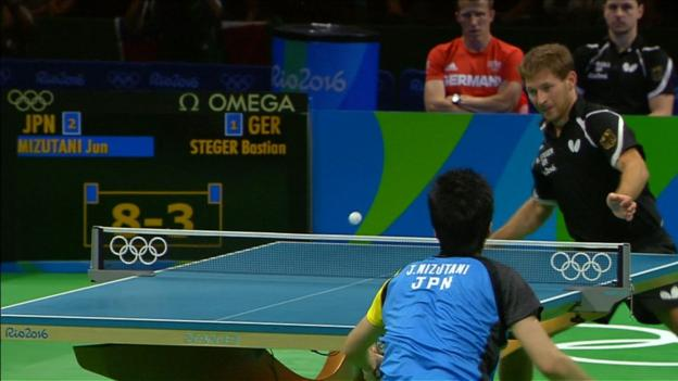 Spectacular table tennis from Japan & Germany