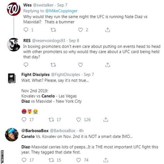 Twitter reaction to Canelo v Kovalev