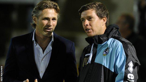 Gareth Ainsworth and Darrell Clarke