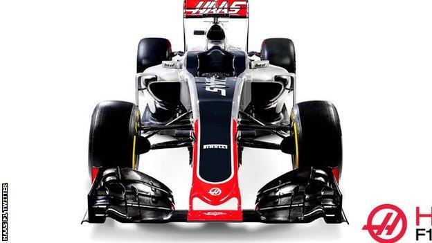 Haas F1 2016 car