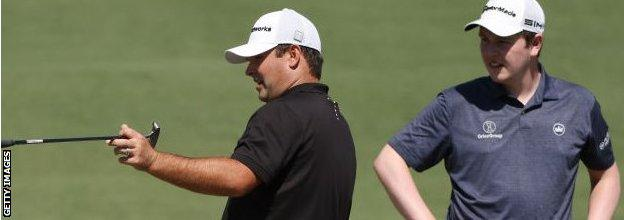 Robert MacIntyre (right) has been taking tips from 2018 Masters champion Patrick Reed
