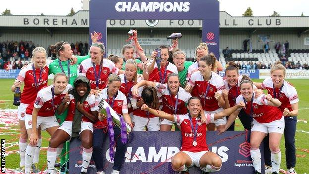 Arsenal are the reigning Women's Super League champions