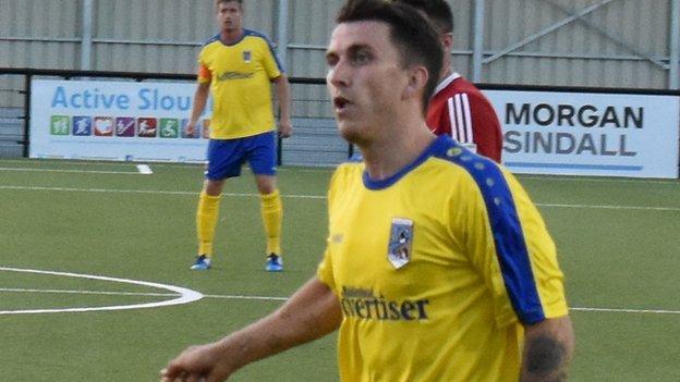 Maidenhead United striker Dave Tarpey